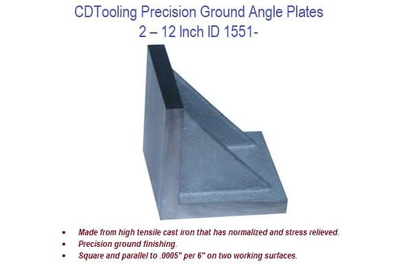 2-12 inch - Angle Plates Precision Ground Cast Iron ID 1551-